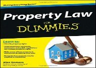[+]The best book of the month Property Law For Dummies  [FREE]