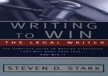 [+][PDF] TOP TREND Writing to Win: The Legal Writer  [FREE]