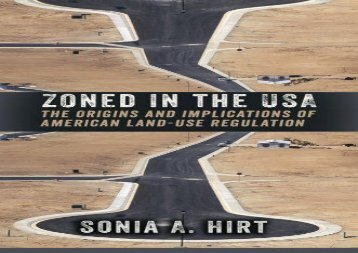 [+]The best book of the month Zoned in the Usa: The Origins and Implications of American Land-Use Regulation  [FREE]