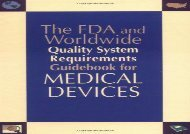 [+][PDF] TOP TREND FDA and Worldwide Quality Systems Requirements Guidebook for Medical Devices  [READ]