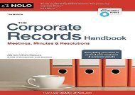 [+]The best book of the month The Corporate Records Handbook: Meetings, Minutes   Resolutions  [DOWNLOAD]