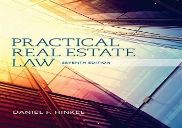 [+][PDF] TOP TREND Practical Real Estate Law (Mindtap Course List) [PDF]