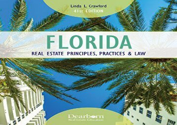 [+]The best book of the month Florida Real Estate Principles, Practices   Law (Florida Real Estate Principles, Practices and Law)  [DOWNLOAD]