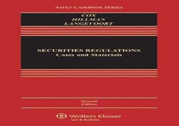 [+][PDF] TOP TREND Securities Regulation: Cases and Materials (Aspen Casebooks)  [READ]