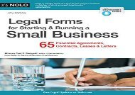 [+][PDF] TOP TREND Legal Forms for Starting   Running a Small Business  [DOWNLOAD]