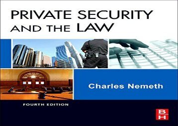 [+]The best book of the month Private Security and the Law [PDF]