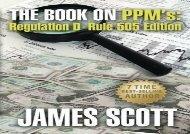 [+]The best book of the month The Book on PPMs, Regulation D Rule 505 Edition: Volume 4 (New Renaissance Series on Corporate Strategies)  [FULL]