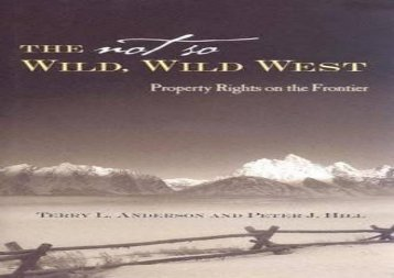 [+][PDF] TOP TREND The Not So Wild, Wild West: Property Rights on the Frontier (Stanford Economics   Finance) [PDF]