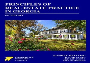 [+][PDF] TOP TREND Principles of Real Estate Practice in Georgia  [NEWS]