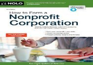 [+][PDF] TOP TREND How to Form a Nonprofit Corporation (How to Form Your Own Nonprofit Corporation) [PDF]