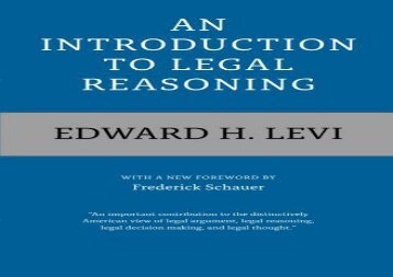 [+][PDF] TOP TREND An Introduction to Legal Reasoning  [FREE]