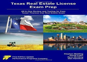 [+][PDF] TOP TREND Texas Real Estate License Exam Prep: All-in-One Review and Testing to Pass Texas  Pearson Vue Real Estate Exam  [DOWNLOAD]
