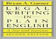 [+]The best book of the month Legal Writing in Plain English, Second Edition: A Text With Exercises (Chicago Guides to Writing, Editing and Publishing)  [NEWS]