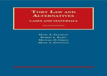 [+][PDF] TOP TREND Tort Law and Alternatives: Cases and Materials (University Casebook Series)  [DOWNLOAD]