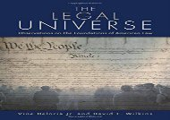 [+]The best book of the month The Legal Universe: Observations on the Foundations of American Law  [READ]