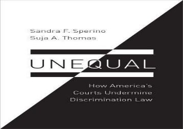[+]The best book of the month Unequal: How America s Courts Undermine Discrimination Law (Law and Current Events Masters)  [FULL]