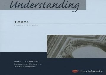 [+]The best book of the month Understanding Torts (Understanding (LexisNexis))  [FULL]