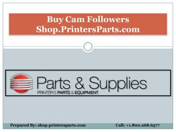 Buy Cam Followers Parts at Affordable Prices