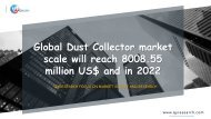 Global Dust Collector market scale will reach 8008.55 million US$ and in 2022