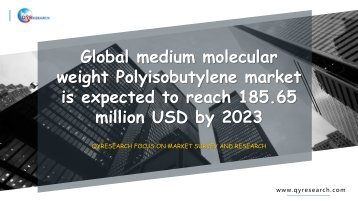 Global Medium Molecular Weight Polyisobutylene market is expected to reach 185.65 million USD by 2023