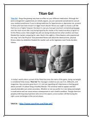 Titan Gel - Improve Your Energy & Stamina Easily!