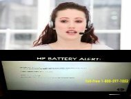 +1 800-597-1052 Fix HP Battery Alert Issue