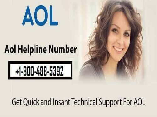 Contact AOL Support Number 1-800-488-5392 For Help