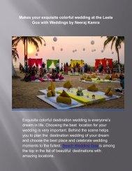 Goa Wedding Planners - Neeraj Kamra