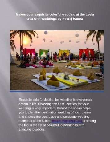 Goa Wedding Planners - Neeraj Kamra