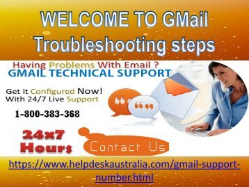 Gmail Support Phone 1-800-383-368 Number Australia- For Troubleshooting steps