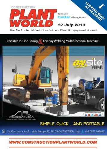 Construction Plant World 12th July 2018