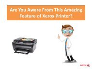 Are You Aware From This Amazing Feature of Xerox Printer