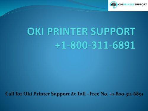 oki-Printer-Support