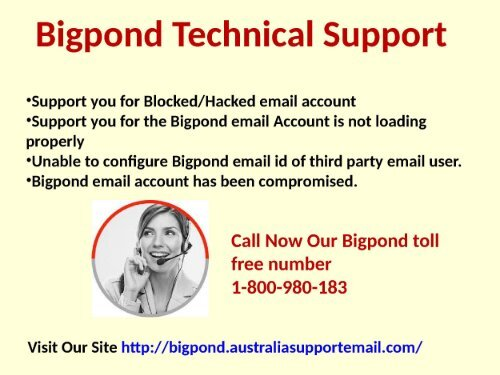 Bigpond Technical Support and Webmail Australia 1-800-980-183 | Help For Login Issue