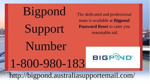 Bigpond Support Number 1-800-980-183 |Obtain Solution
