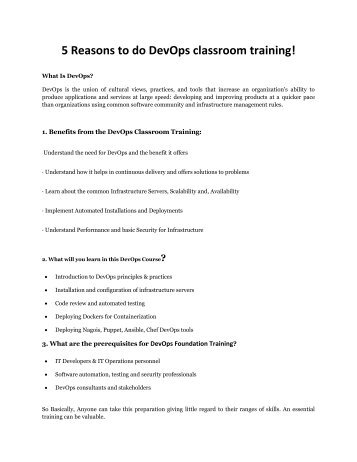 devops classroom training