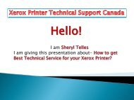 How to get best technical service for your Xerox printer?