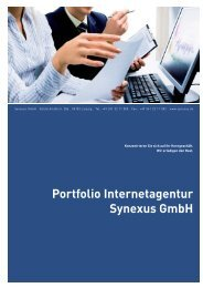 Portfolio Internetagentur Synexus GmbH
