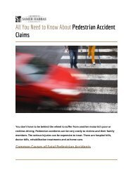 All You Need to Know About Pedestrian Accident Claims