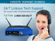 Linksys support number