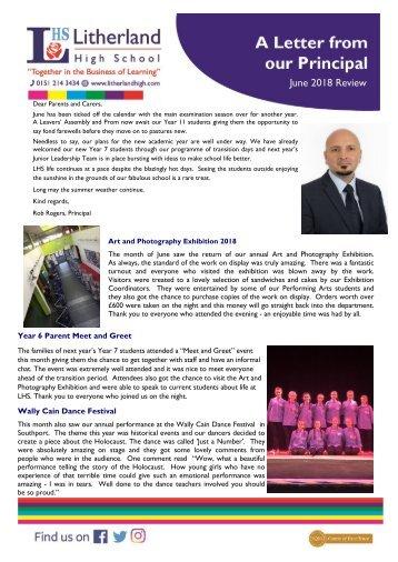 Principals Letter June 2018