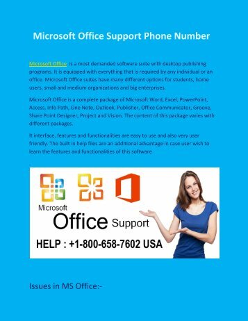 Get help dial  1-800-658-7602 Microsoft Office Technical Support Phone Number
