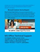 Get help dial  1-800-658-7602 Microsoft Office Technical Support Phone Number - Page 3