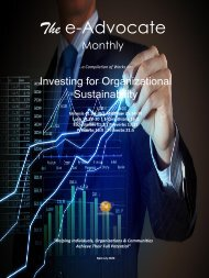 Investing for Organizational Sustainability