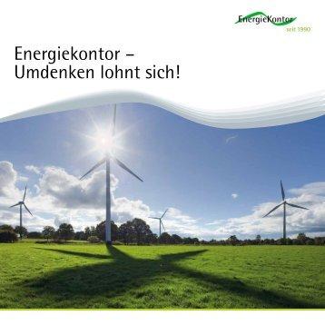 Unternehmensbroschuere Energiekontor