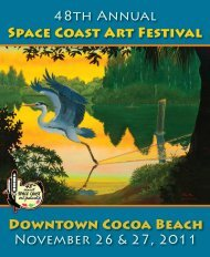 A Very Special Thank You... - Space Coast Art Festival