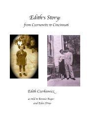 Edith's Story: from Czernowitz to Cincinnati