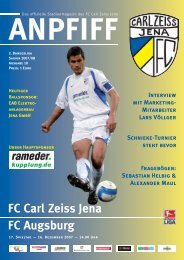 FC Carl Zeiss Jena FC Augsburg