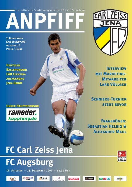 Holstein Kiel Programm 2005//06 FC Carl Zeiss Jena