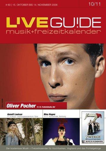 Oliver Pocher 31.10. Freiheitshalle, Hof - Livegui.de